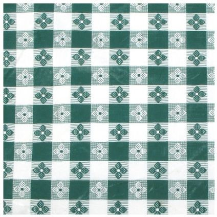 "Winco TBCO-90G Green Oblong Table Cloth 52"" x 90&quot ;"