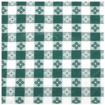 Winco TBCS-52G Square Green Check Tablecloth, 52""