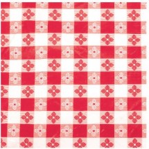 "Winco TBCS-52R Red Square Table Cloth 52"" x 52"""
