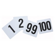 Winco TBN-100 Plastic Table Numbers 1-100 - 1 pack