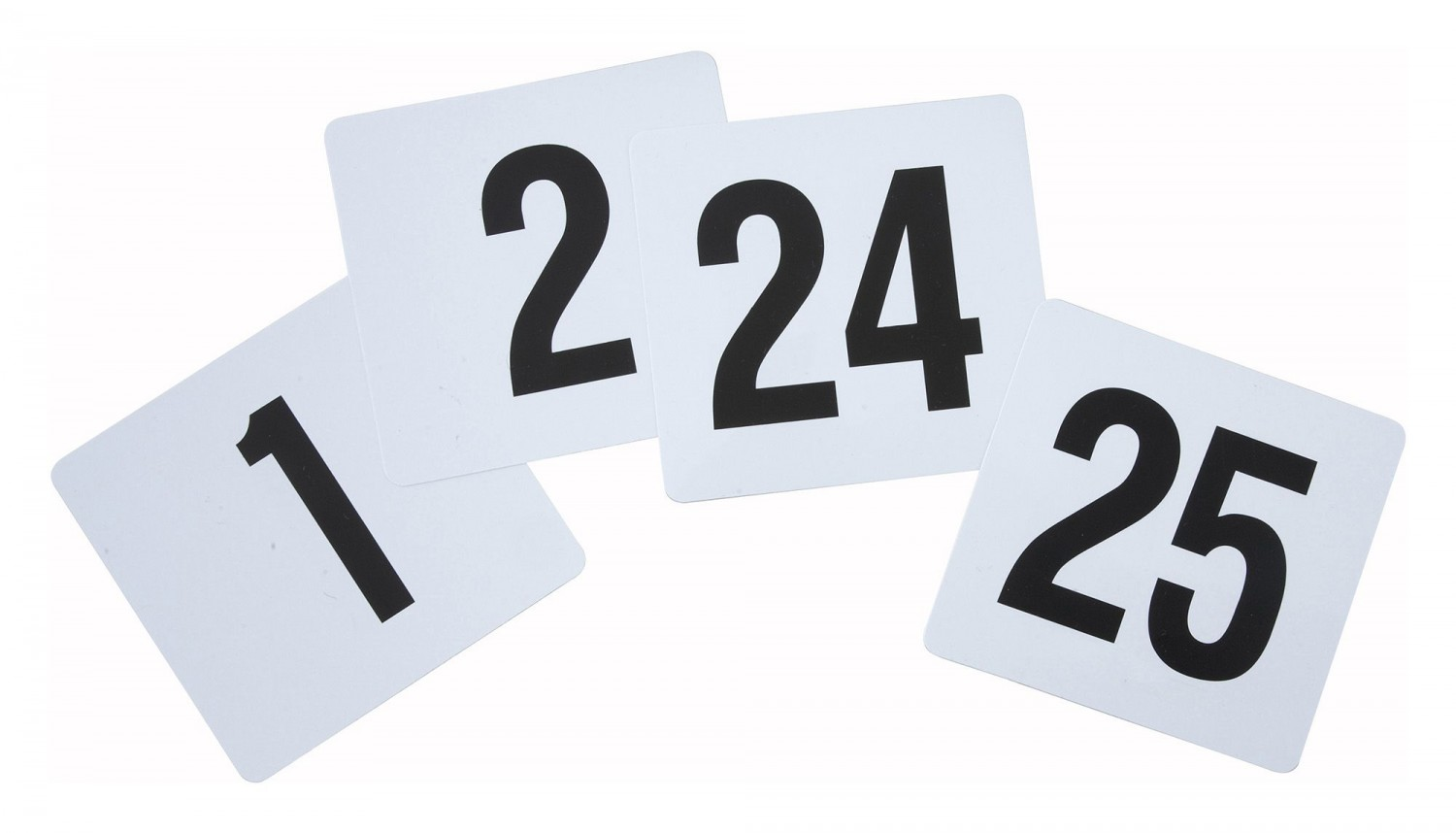 Winco TBN-25 Plastic Table Numbers 1-25 - 1 pack