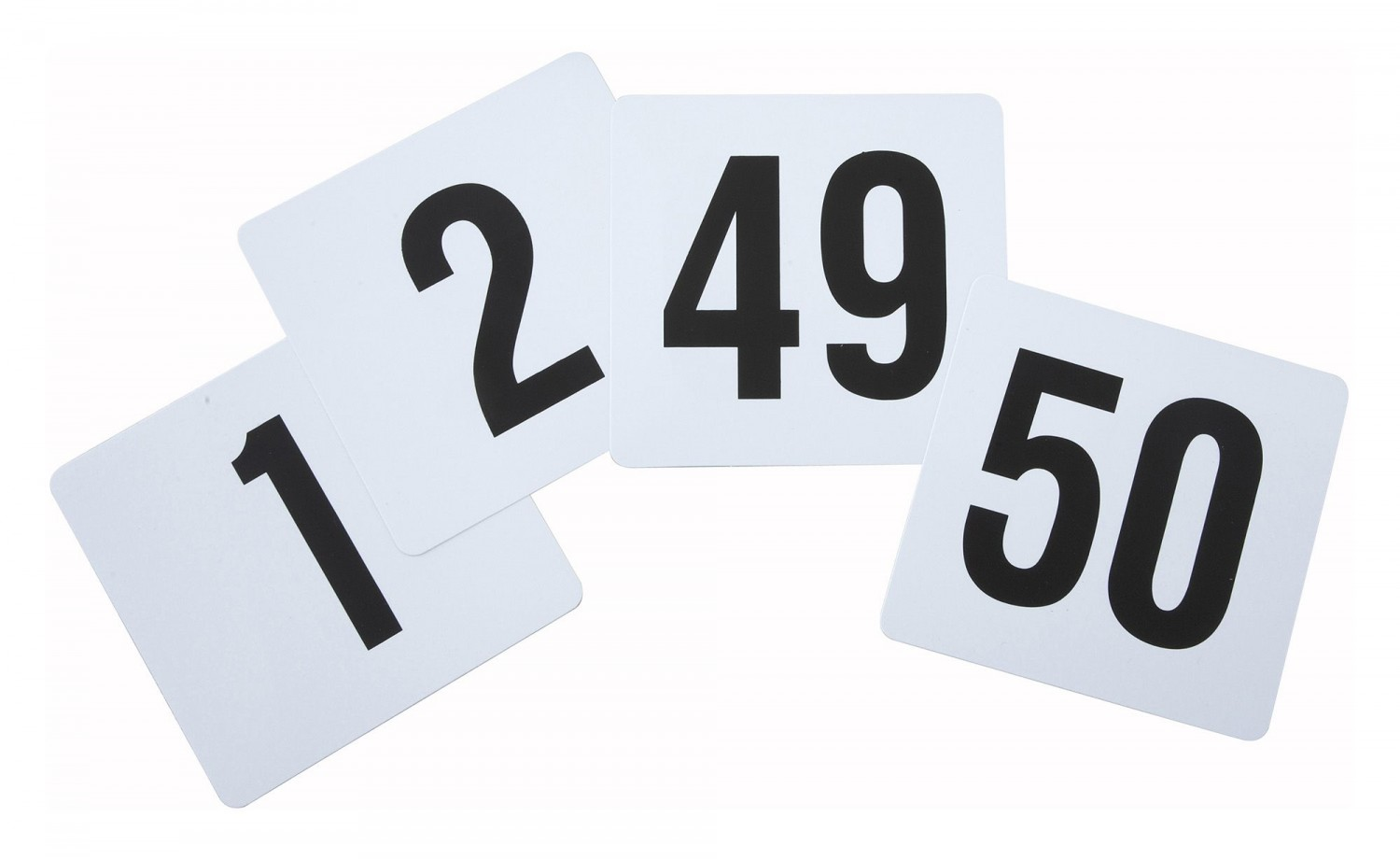 Winco TBN-50 Plastic Table Numbers 1-50 - 1 pack