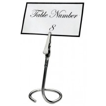 Winco TCD-3C Table Sign Clip with C-Swirl Base - 1/2 doz