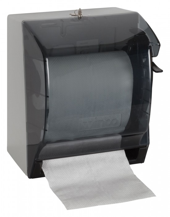 Winco TD-500 Roll Paper Towel Dispenser with Lever