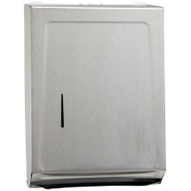 Winco TD-700 Stainless Steel Wall Mounted Paper Towel Dispenser