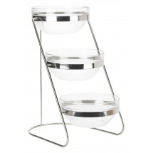 Winco TDS-3 3-Tier Display Server Stand With Glass Bowls