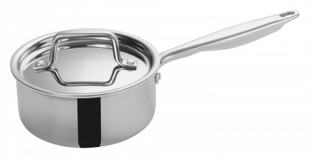 Winco TGAP-2 Tri-Ply Induction Ready Sauce Pan with Cover, 1.5 Qt.