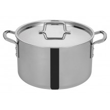 Winco TGSP-16 Tri-Ply Induction Ready Stock Pot with Cover, 16 Qt.