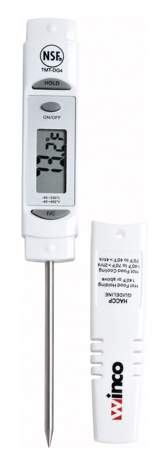 Winco TMT-DG4 Pocket Thermometer with Hold Function