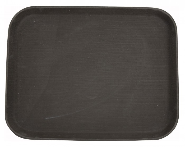 "Winco TRH-1418 Brown Easy Hold Tray 14"" x 18"""
