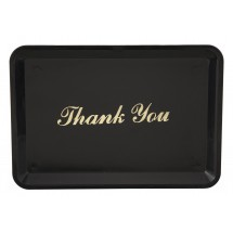 Winco TT-46 Tip Tray with Gold Imprint - 1 doz