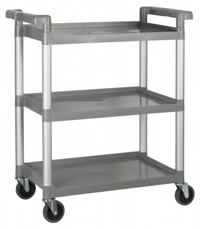 "Winco UC-2415G Gray 3-Tier Utility Cart 33-1/4"" x 17"" x 37-1/2"""