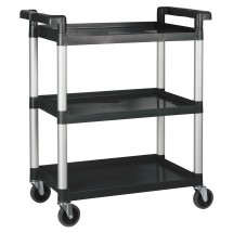 "Winco UC-2415K Black 3-Tier Utility Cart 33-1/4"" x 17"" x 37-1/2"""