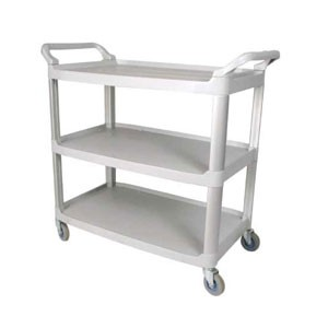 "Winco UC-40G Gray 3-Tier Utility Cart 40"" x 19-3/4"" x 37-1/2"""