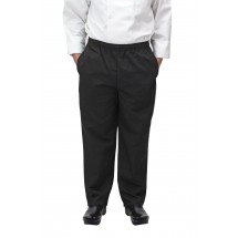 Winco UNF-2KXXL 2X-Large Black Poly-Cotton Blend Relaxed Fit Chef Pants