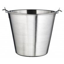Winco UP-13 Stainless Steel Utility Pail with Bail Handle 13 Qt.