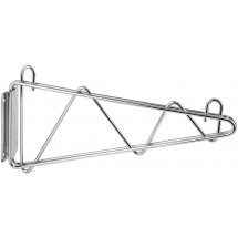 "Winco VCB-21 Chrome-Plated Wall Mount Shelving Bracket 21""W"