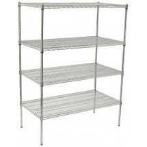 "Winco VCS-2436 4-Tier Wire Chrome-Plated Shelving Set 24"" x 36"" x 72"""