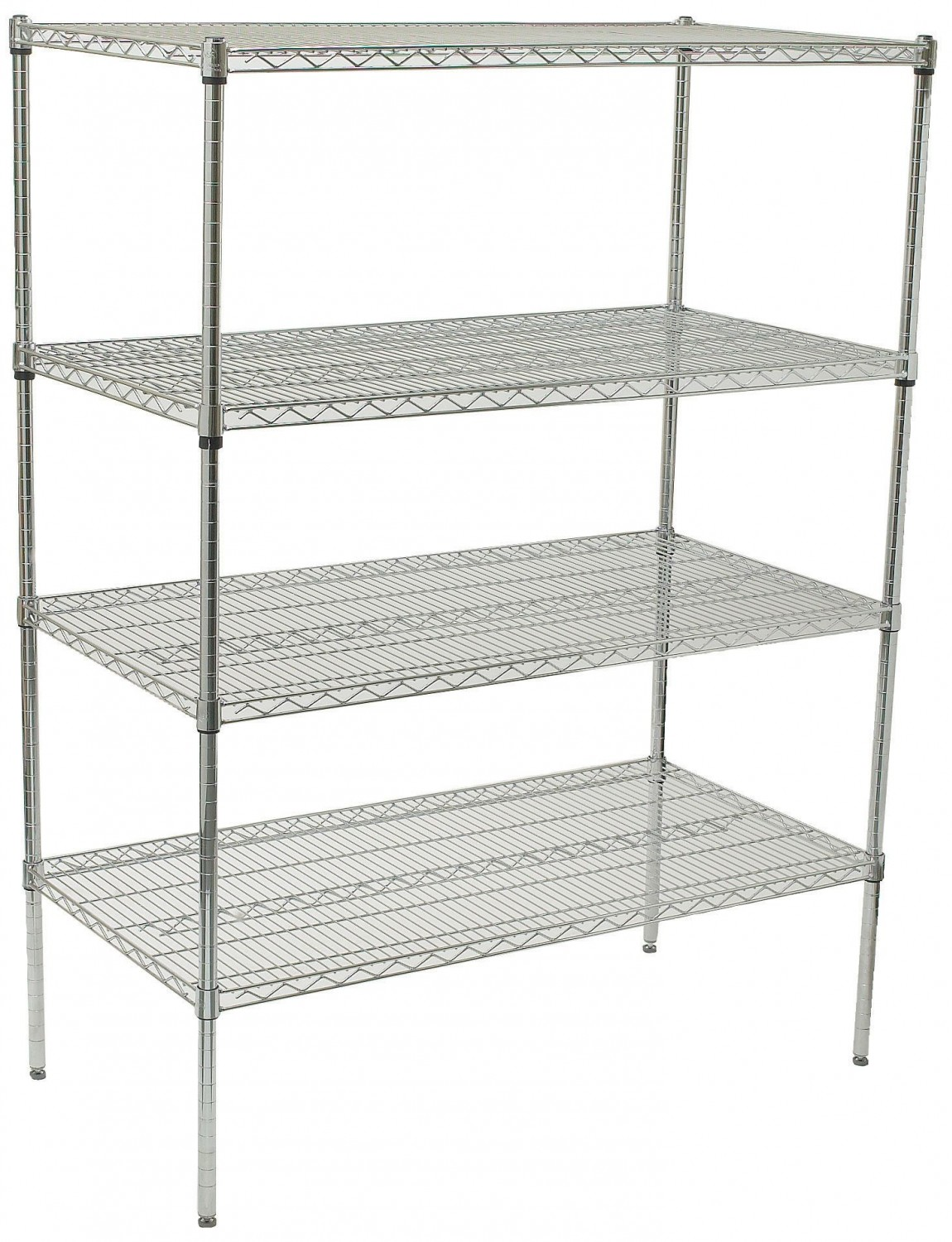 Winco VCS-2448 4-Tier Wire Chrome-Plated Shelving Set 24\