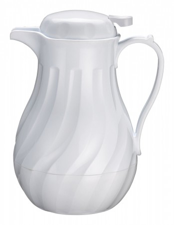 Winco VSW-42W White Insulated Plastic Beverage Server 42 oz.