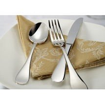 Winco Venice 5-Piece Extra Heavy Weight Flatware Set - Service for 12