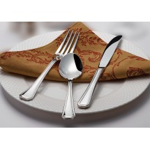 Winco Victoria 5-Piece Extra Heavy Weight Flatware Set - Service for 12