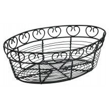 "Winco WBKG-10O Oval Wire Bread/Fruit Basket 10"" x 6-1/2"" x 3"""