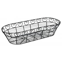 "Winco WBKG-15 Oblong Wire Bread/Fruit Basket 15"" x 6-1/4"" x 3"""