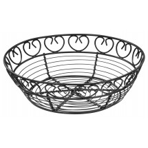 Winco WBKG-8R Round Wire Bread/Fruit Basket 8""
