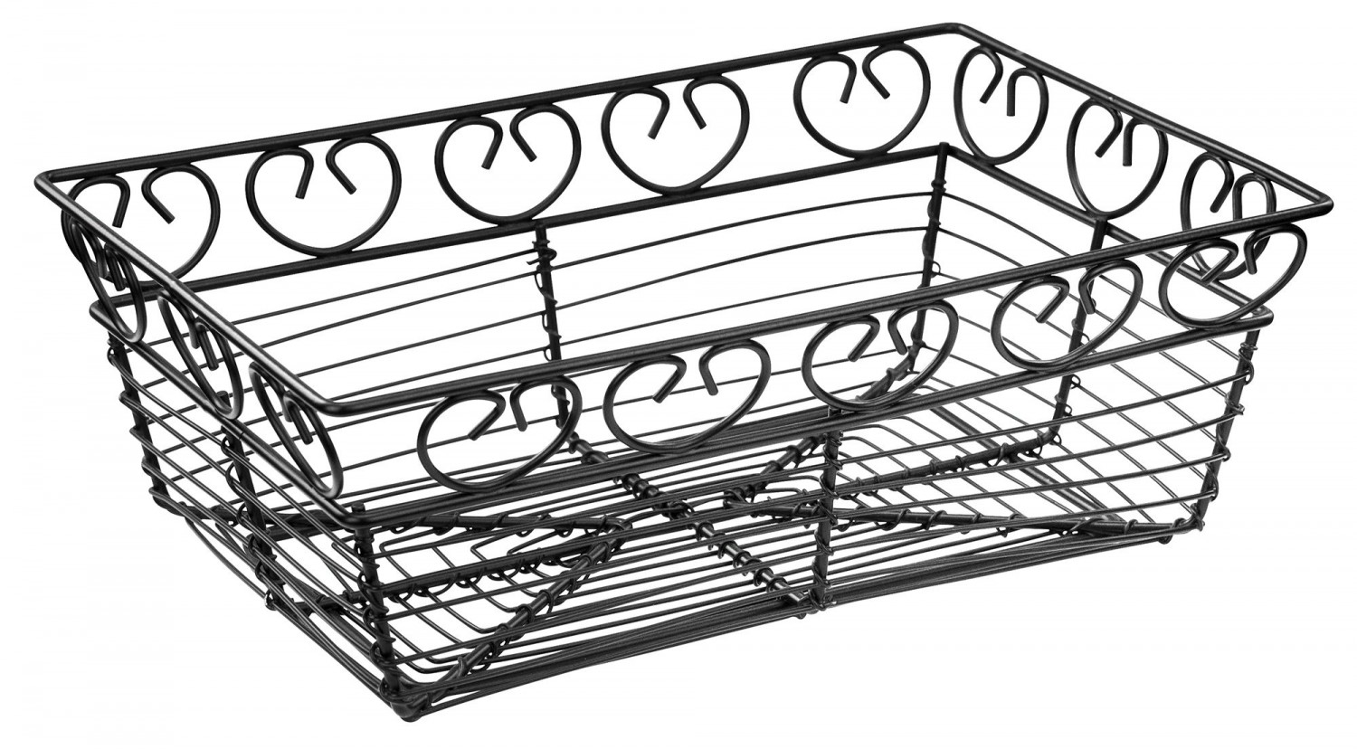 "Winco WBKG-9 Rectangular Wire Bread/Fruit Basket 9"" x 5-7/8"" x 3"""