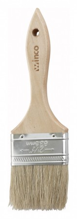 Winco WBR-25 Wide Flat Pastry Brush 2-1/2""