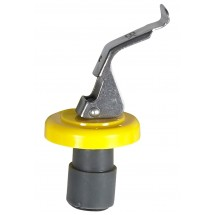 Winco WBS-Y Yellow Wine Bottle Stopper - 1 doz
