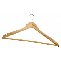 Winco WCH-1 Maple Hardwood Clothes Hanger - 1 doz