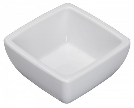 Winco WDM009-201 Ardesia Linza White Melamine Square Mini Bowl 2-1/2""