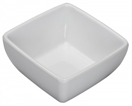 Winco WDM009-202 Ardesia Linza White Melamine Square Mini Bowl 3-1/2""