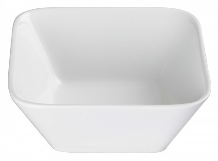 Winco WDP008-103 Ardesia Laurets Porcelain Bright White Square Bowl 6-3/4""