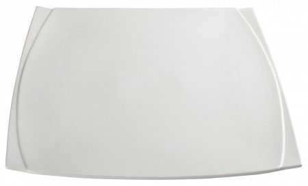 Winco WDP009-103 Ardesia Bettini Porcelain Bright White Square Plate 14""