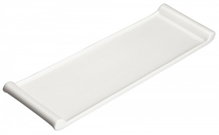 "Winco WDP017-115 Ardesia Paredes Porcelain Bright White Rectangular Platter 12"" x 3-3/4"""