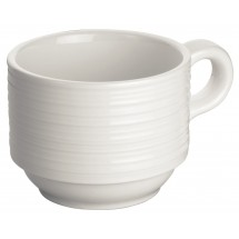 Winco WDP022-111 Ardesia Zendo Porcelain Bright White Coffee Cup 3-1/4""