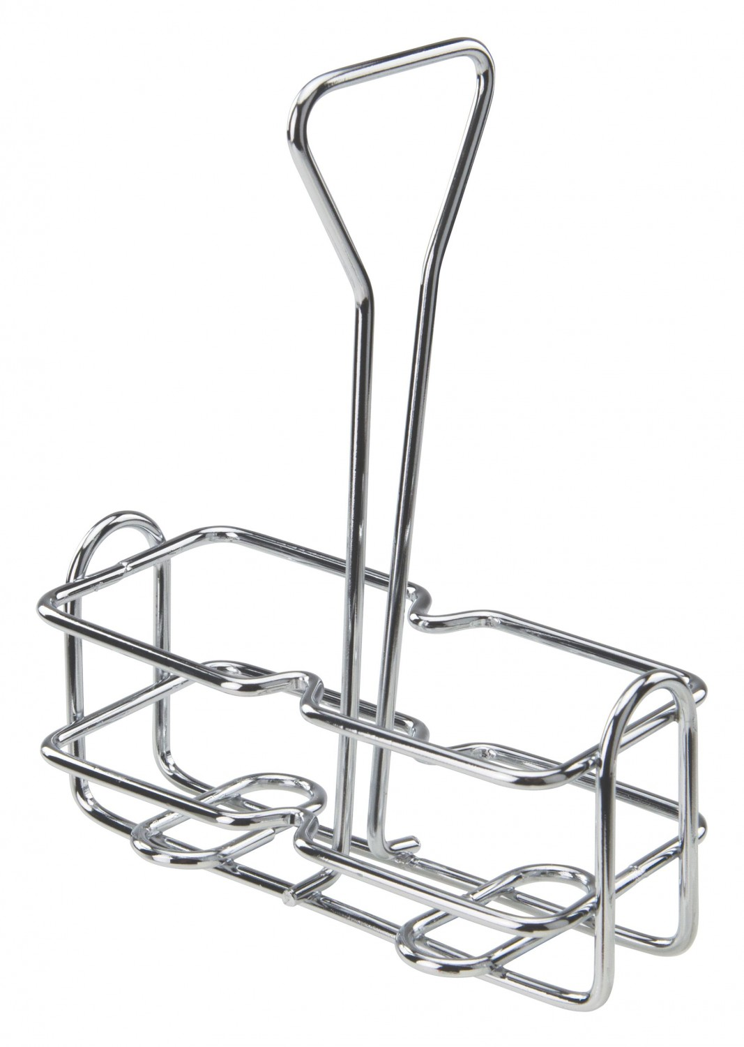 Winco WH-3 Square Chrome Plated Oil and Vinegar Holder 6 oz.