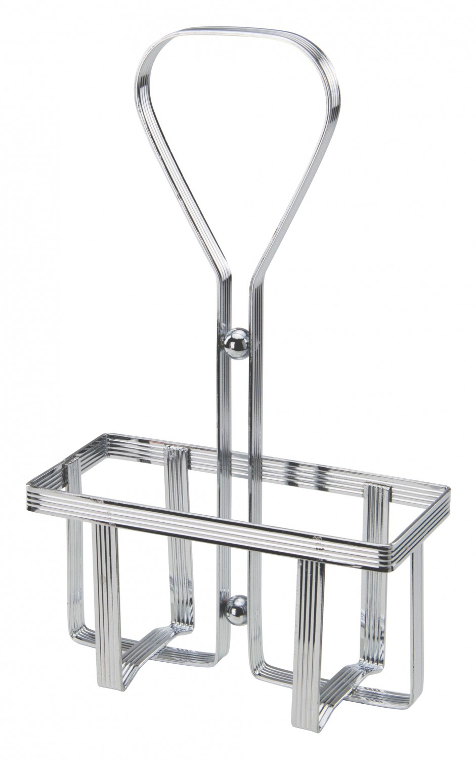 Winco WH-5 Square Chrome-Plated Oil and Vinegar Cruet Rack