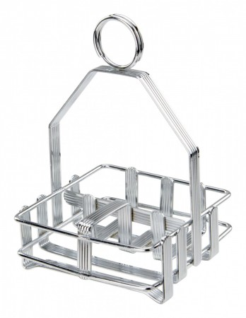 Winco WH-7 Chrome-Plated Shaker and Packet Holder
