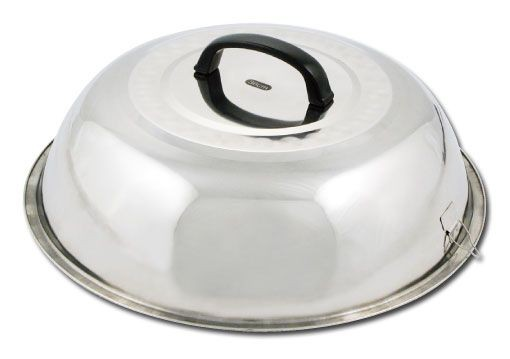 """Winco WKCS-14 Stainless Steel Wok Cover 13-3/4"""""""