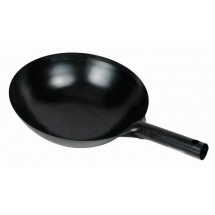 Winco WOK-36 Carbon Steel Chinese Wok with Integral Handle 16""