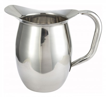 Winco WPB-2 Stainless Steel Deluxe Bell Pitcher 2 Qt.