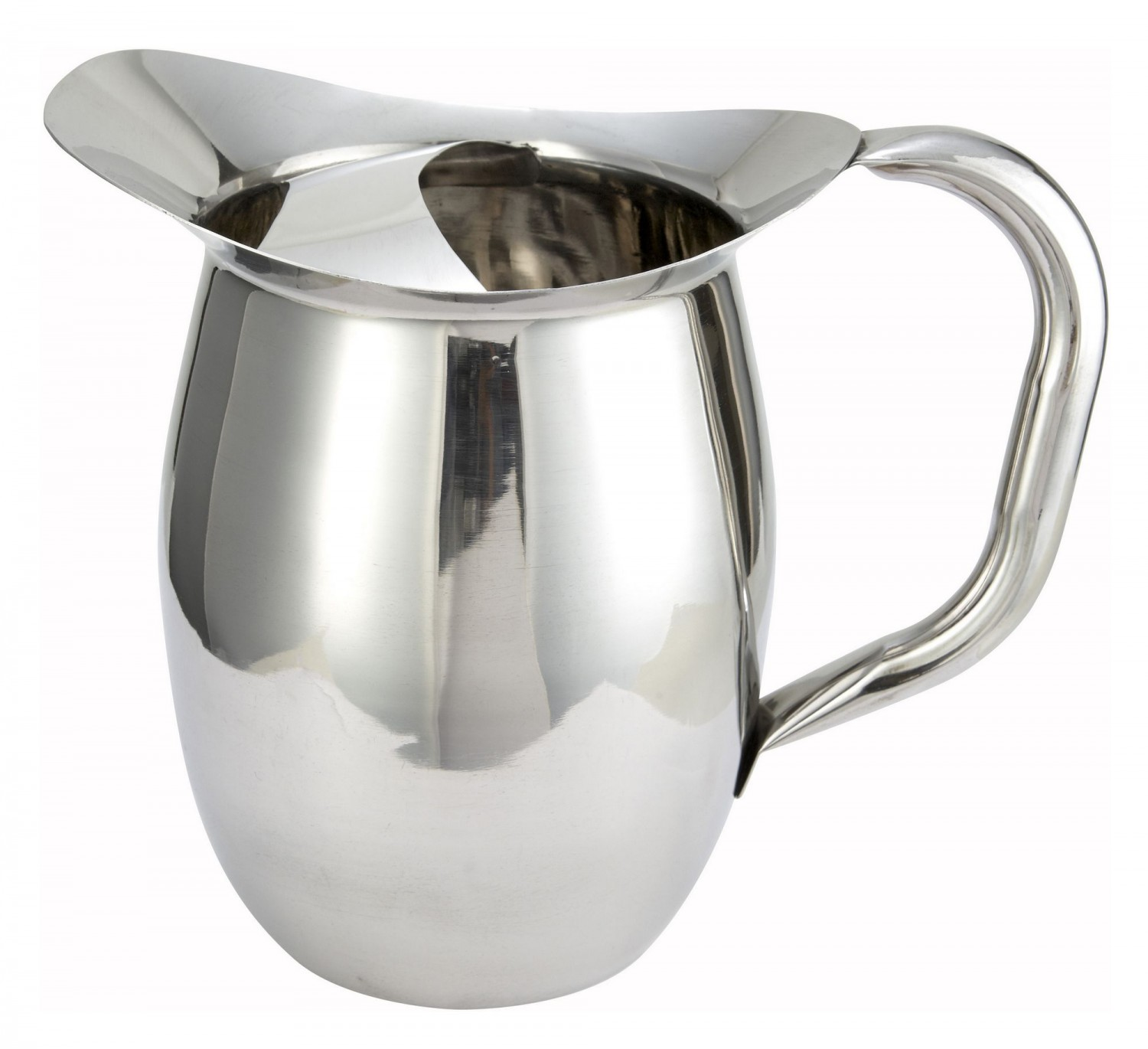 Winco WPB-2C Deluxe Bell 2 Qt Pitcher with Ice Catcher