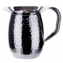 Winco WPB-3H Stainless Steel Hammered Bell Pitcher 3 Qt.