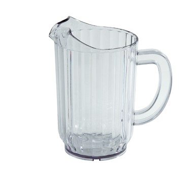 Winco WPC-48 Clear Polycarbonate Water Pitcher 48 oz.