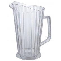 Winco WPCB-60 Clear Plastic Water Pitcher 60 oz., Clear
