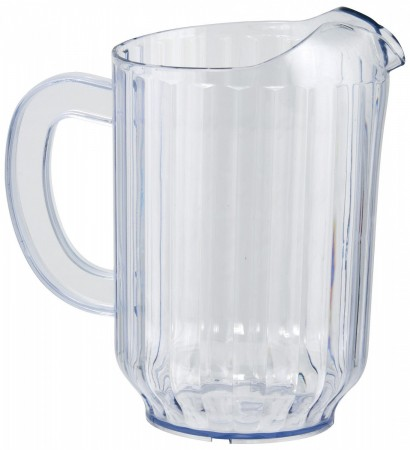 Winco WPS-60 Clear SAN Plastic Water Pitcher 60 oz.